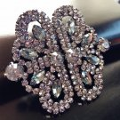 Vintage Style Grey Tone Rhinestone Crystal Wedding Closure Hook and Eye Clasp
