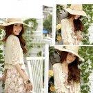 Fashion Flower Lace Cream/Ivory Shawl Waistcoat Bolero Outdoor Wrap Jacket