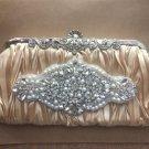Wedding Champagne Gold Bag Shoulder Bag Purse Rhinestone Crystal Clutch