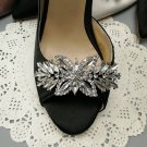 A Pair of Rhinestone Crystal Vintage Fashion Ladies Shoe Clips