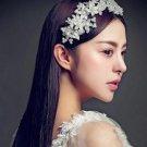 Bridal Pearl Beads Flower Wedding Headpiece Tiara Wire Vine Accessories