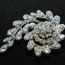 Wedding Crystal Rhinestone Flower Bridal Brooch Pin Jewelry