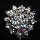 Snowflake Flower Leaf Wedding Crystal Brooch Pin Bridal Rhinestone Jewelry