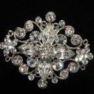 Vintage Style Bridal Rhinestone Jewelry Crystal Wedding Brooch Pin Accessories