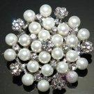 Ivory Pearl Flower Brooch Bridal Crystal Jewlery Wedding Brooch Pin Broach