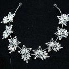 Wedding Headpiece Flower Crystal Rhinestone Tiara Wire Vine Bridal Accessories