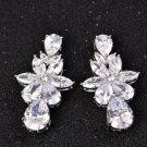 Fashion Star Cubic Zirconia Earrings Teardrop Ear Studs Charm Wedding Jewelry