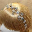 Rhinestone Flower Wedding Headpiece Soft Crystal Hair Chain Headband