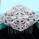 Vintage Rhinestone Comb Wedding Hair Clip Crystal Bridal Headpiece Accessories