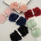 2 pcs -Summer Fashion Rhinestone Crystal Organza Bow Flower Sandals Shoe Clips
