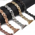 Apple Watch Replacement Band Metal Rose Gold Black Bracelet White Black Strap