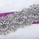 Classic Flower Rhinestone Crystal Beaded Faux Pearl Bridal Wedding Iron Applique