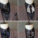 Color Vintage Wedding Men Pre Tied Crystal Rhinestone Tie Neck Tie Bow Tie