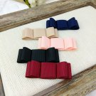 A Pair Elegant Color Ribbon Bow Simple Butterfly High-Heel Shoe Clips 2.5x7cm