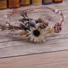 Woodland Forest Wedding Dried Berry Pine Flower Handmade Tiara Headpiece