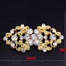 Rhinestone Crystal Wedding Gold Closure Hook and Eye Sew On Button Gold Clasp