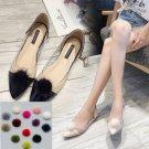 2 Pcs Round Pom Pom Ball Winter Ladies Boots Raccoon Fur Shoe Clips