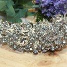 Large Vintage Style Bridal Flower Marquise Rhinestone Crystal Wedding Brooch Pin