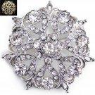 Rhinestone Crystal Bridal Wedding Flower Cake  Brooch Pin Jewelry