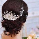 Vintage Wedding Gold Silver Flower Hair Tiara Headband Leaf Bridal Headpiece