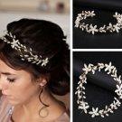 Wedding Bridal Vintage Flower Beads Tiara Pearl Headpiece Hair Piece