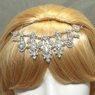 Vintage Wedding Crystal Hair Chain Bridal Dangle Drop Hair Clip Headpiece
