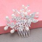 Bridal Rhinestone Pearl Comb Wedding Vintage Star Hair Comb Crystal Headpiece