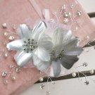 Rhinestone Crystal Beaded Pearl Wedding Flower Headpiece Tiara Hair Clip