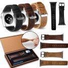 Apple Watch Band Black Brown Leather Strap Bracelet Wristwatch iWatch Watch Band