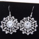 Flower Earrings Bridesmaids Snowflake Rhinestone Crystal Wedding Jewelry