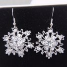 Snowflake Rhinestone Crystal Earrings Snow Wedding Bridesmaids Winter Jewelry