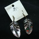 Fashion Peacock Vintage Style Rhinestone Crystal Earrings Jewelry
