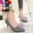 2 Pcs Winter Rabbit Fur Pom Pom Boots High Heel Shoe Clips