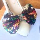 2 Pcs Rainbow Color Sequin Sparkling Wedding Shoe Clips Pair