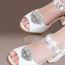 2 pcs Vintage Glass Aurora Crystal Wedding Bridal Shoe Clips Detach Decoration