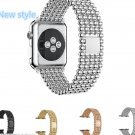 Beaded Bracelet Replacement Apple Watch Stainless Steel Watch Band Strap 38/42M