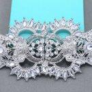 Large Rhinestone Crystal Wedding Belt Sash Connector Clasp Closure Buckle Button