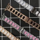 Replacement Band Ceramic Stainless Steel Bracelet Gold Silver Apple Watch Strap