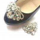 A Pair Acrylic Rhinestone Crystal Wedding Bridal Shoe Clips
