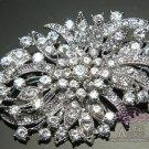 Rhinestone Crystal Vintage Style Flower Wedding Brooch Pin