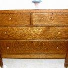 Vintage tigerwood dresser