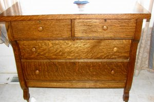 Vintage tigerwood dresser
