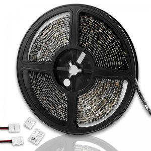 Warm White 300 SMD LED Strip Light 16.4 Ft Waterproof For Ext Body Underbody Spoiler Grille Bumper