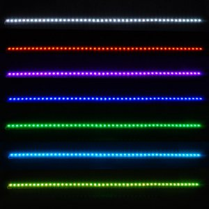 Knight Rider Scanner Bar Multi Color Speed RGB 48 SMD LED Strip Brake Light 22 In. + RC 60 Ft Range