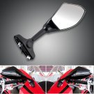 Amber Color LED Turn Signal Lights Black Side Rear View L/R Mirrors For Sport Street Bike Free Ship