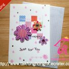 mini 3D birthday gift card & envelope - Free Shipping