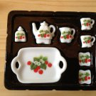 Set B tray ceramic porcelain china Pullip Blythe Collectibles Cute Mini dollhouse Tea Tak Fung Hong