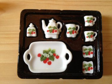 Set B tray ceramic porcelain china Pullip Blythe Collectibles Cute Mini dollhouse Tea Tak Fung Hong