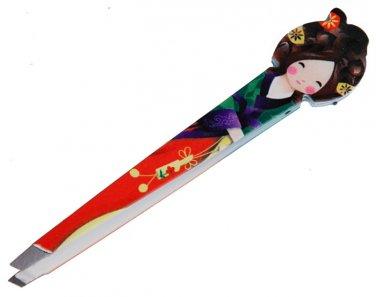 Japan Doll Little Girl eyebrow Tweezers Make up tool easy clip