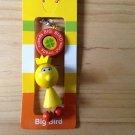 big bird cute wood phone pouch zipper keychain yellow sesame street wooden key ring key chain tfh